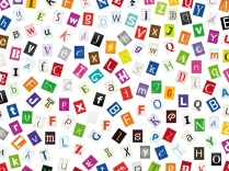 lettres découpées
